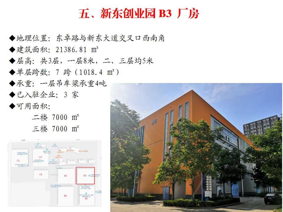 新东创业园 B3  厂房